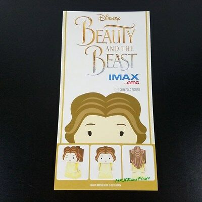 Beauty and the Beast Movie IMAX Promo Cubefold Papercraft Belle figure Brand New