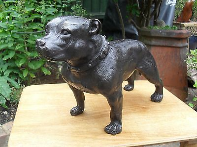 Lovely Finely Modelled Bronze Staffordshire Terrier in Great Condition