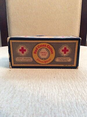 Vintage Unopened 1oz Red Cross Cotton Box Small Size.