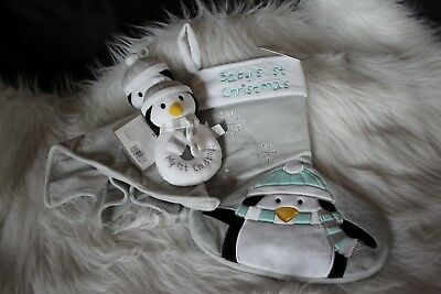 Baby's 1st Christmas Stocking 3 piece set!