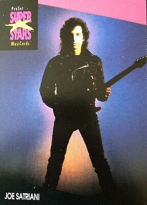 Joe Satriani Proset Superstar Musicards 1St Edition Card Rare Oop
