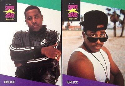 Tone Loc Proset Superstar Musicards 1St Edition 2 Cards Rare Oop (1991)