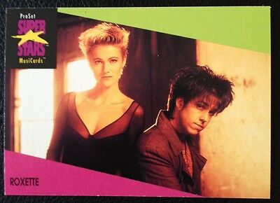 Roxette Proset Superstar Musicards 1St Edition Card Rare Oop