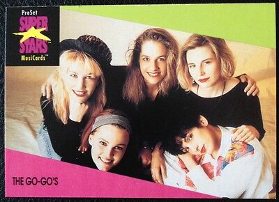 The Go-Gos Proset Superstar Musicards 1St Edition Card Rare Oop