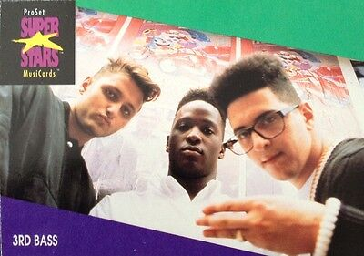3Rd Bass Proset Superstar Musicards 1St Edition Card Rare Oop (1991)