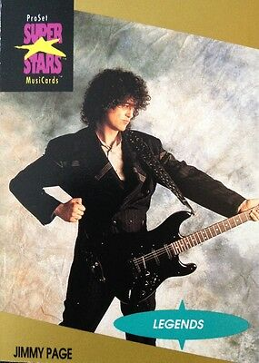 Jimmy Page Proset Superstar Musicards 1St Edition Card Rare Oop (1991)