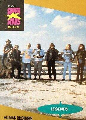 Allman Brothers Proset Superstar Musicards 1St Edition Card Rare Oop (1991)