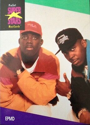 Epmd Proset Superstar Musicards 1St Edition Card Rare Oop (1991)