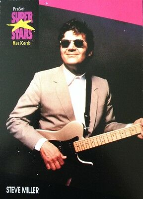 Steve Miller Proset Superstar Musicards 1St Edition Card Rare Oop