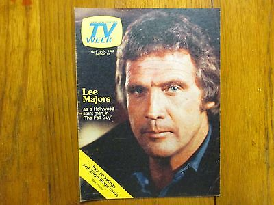 April 18, 1982 Chicago Tribune TV Week(LEE MAJORS/THE  FALL  GUY/THE BIG VALLEY)
