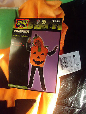 NEW Totally Ghoul Child's Pumpkin Halloween Costume Size Small 2-4