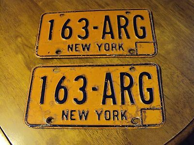 New York License Plate Set #163-Arg