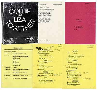 Goldie Hawn's Hand-Annotated Script for ''Goldie & Liza''