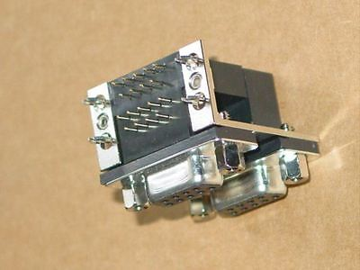 Dual Port Right Angle D-Type 9 pin female connector for pcb * 20