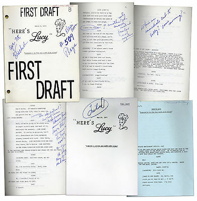 Lucille Ball First and Final Draft Scripts for Lucy
