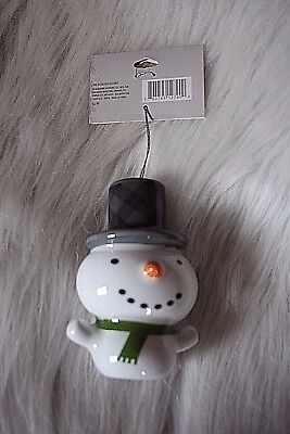 Christmas snowman ornament by Hallmark super light and adorable!