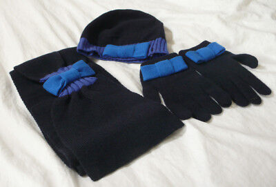 Paul Smith Hat, Scarf and Gloves – Blues – 100% Pure Wool BNWOT