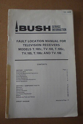 Bush TP.1434 Fault Location Manual For Television Receivers
