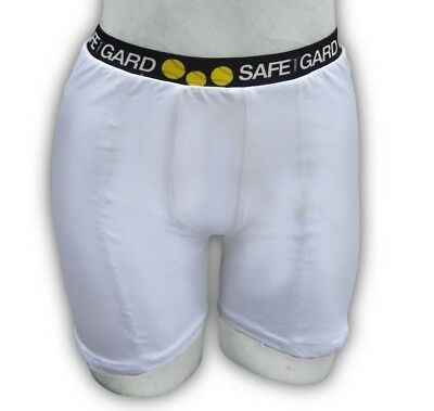 (Small, White) - SafeTGard Womens Regular-Rise Sliding Short (Available in 5