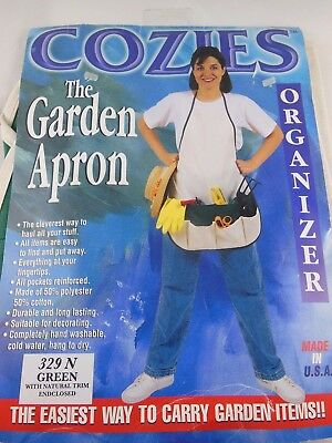 New Garden Apron Organizer with 4 pockets for lawn/gardening  Cozies Made in USA