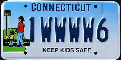 """CONNECTICUT """" KEEP KIDS SAFE - CHILDREN """" CT Specialty License Plate"""
