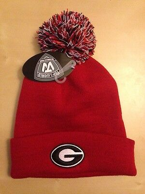 NCAA Top of the World Georgia Bulldogs Raised Cuff Bobble Beanie