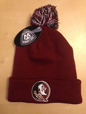 NCAA Top of the World Florida State Seminoles Raised Cuff Bobble Beanie