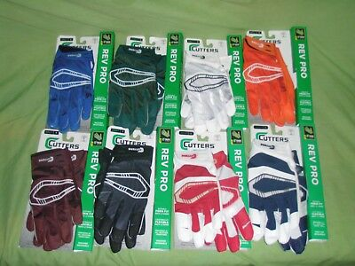 Cutters Rev Pro Football Receivers Gloves Adult Sizes, New, One Pair