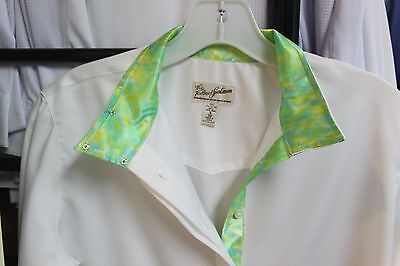 NEW Tailored Sportsman Ladies Green Tie Dye Show Shirt - White w/Green - 32, 36