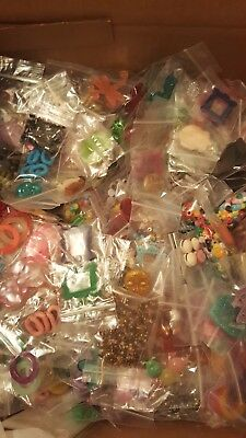 Huge Assorted Lot of Mixed Jewelry Making Supplies Crafts and Beads! 25 bags !