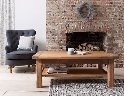 Denver Coffee Table in Solid Oak Large