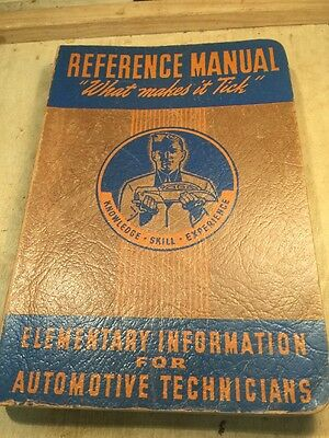 vintage Reference Manual For Automotive Technicians