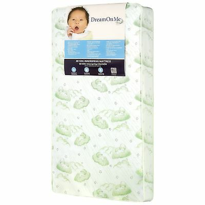"""Dream On Me Twilight 5"""" 80 Coil Spring Crib And Toddler Bed Mattress Green New"""