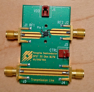 Peregrine PE4246 1 MHz - 5 GHz Absorptive SPST RF Switch Eval Board (101/0102)