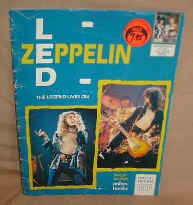 VINTAGE SOFTCOVER BOOK LED ZEPPELIN by PHILIP KAMIN