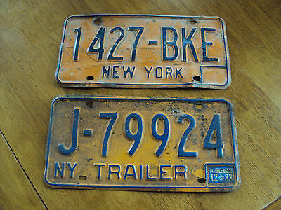 Lot Of 2 New York License Plates