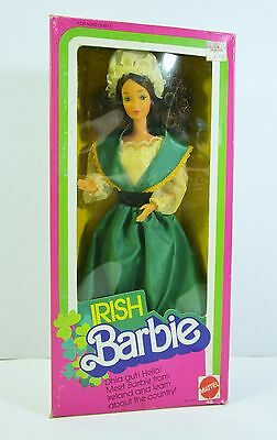 Vintage 1983 Mattel IRISH BARBIE INTERNATIONAL DOLL NRFB MIB #7517 3+ Steffie