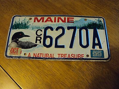 1999 Maine Loon License Plate #6270A