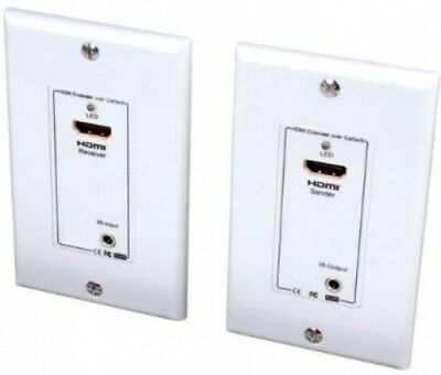 Vanco 280715 HDMI Wall Plate Extender over 2 UTP Cables with IR Control, 30m