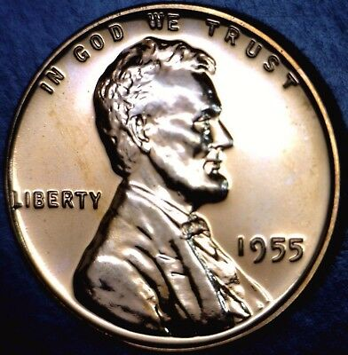 PROOF 1955 GEM Red bu PROOF Lincoln Wheat cent penny Uncirculated PROOF