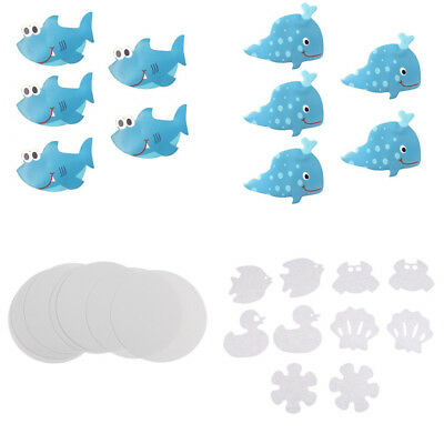 Bath Tub Non-slip Appliques Decal Treads Anti Skid Shower Stickers 4 Patterns