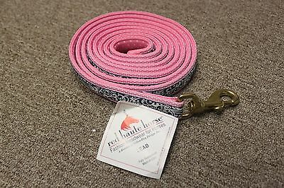 NEW Red Haute Horse Fashion Nylon Lead 8' - 2 Fun Patterns!