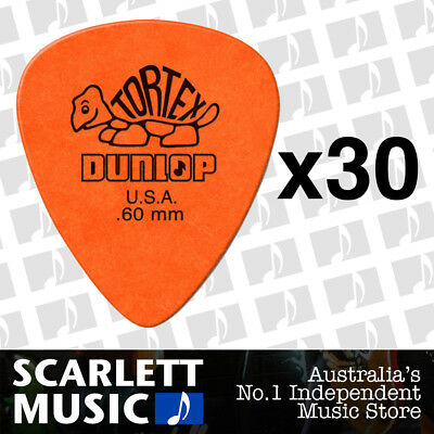 30 x Jim Dunlop Standard Tortex .60mm Orange Picks Plectrums .60 *THIRTY PICKS*