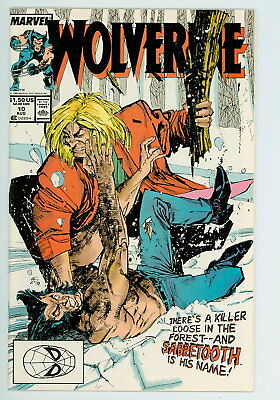Wolverine #10 Marvel 1989 NM vs. Sabretooth – 1st Silver Fox