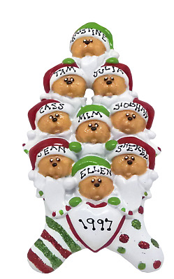 Personalised Christmas Decoration/Ornament - Bear Family