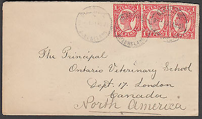 Queensland - 1907 Cover to Canada