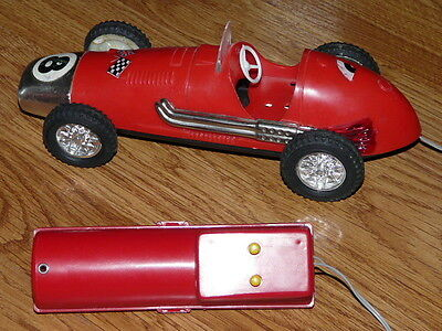 Vintage Battery Operated Remote Control Sports Car  -  Works !!
