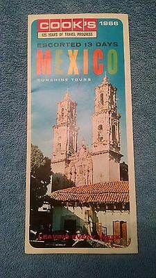 OLD Map & Brochure Mexico Sunshine Tours Cooks  1966