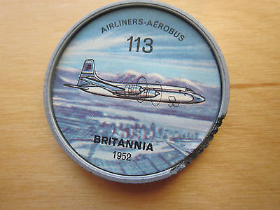 Canadian JELLO, HOSTESS COINS (1960) Aviation Planes Airliners # 113 Briannia