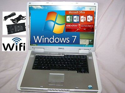 "Dell Inspiron 15.4""Notebook/Laptop Wifi Windows Word,Excel,PowerPint, Ready"